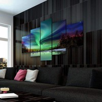 *Clearance* Northern Lights Lake Canvas Set