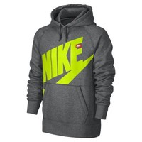 Nike AW77 Logo Pullover Men's Hoodie - Charcoal Heather