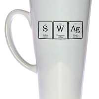 Swag Periodic Table of Elements Chemistry Coffee or Tea Mug, Latte Size