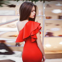 2016 Summer Women Vintage Sleeveless Bodycon Off Shoulder Casual Party Evening Mini Dress Hot Sale