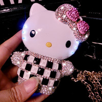 2015 Luxury Crystal Bling Diamond Powerbank 12000mAh Hello Kitty External Battery Powerbank Charger for All mobile phones P2
