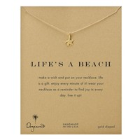 Dogeared Life's A Beach Starfish Necklace, Gold Dipped