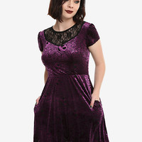 The Nightmare Before Christmas Purple Web Burnout Dress