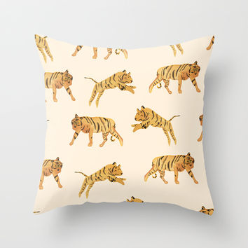 A Trip to the Zoo Throw Pillow by Sara Combs