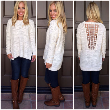 Preach to the Choir Knit Sweater - IVORY