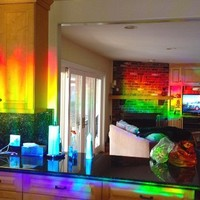 "Decorative Window Film Holographic Prismatic Etched Glass Effect - Fill Your House with Rainbow Light 23"" X 36"" Panels"