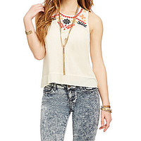 Coco + Jameson Embroidered Tank - Vintage Ivory