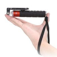 Super Portable 5.9-18.9in Aluminum Selfie Monopod with Bluetooth 3.0 for Android and IOS (Orange)
