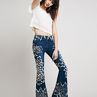 Free People Womens Dominica Printed Flare
