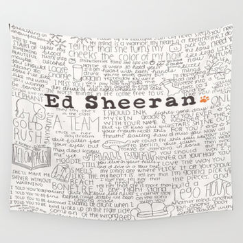 ed sheeran. Wall Tapestry by CALM OCEANS™