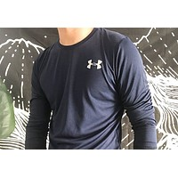 Under Armour Fashion New Letter Print Long Sleeve Top Men Blue