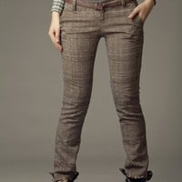 $59.00 Plaid Checked wool pants by JulyS
