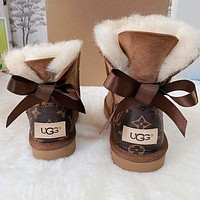 LV UGG bow Boots Shoes Adult Child