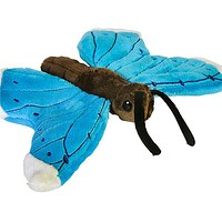 9 Inch Blue Morpho Butterfly Stuffed Animal Plush Zoo Animal Friend Collection