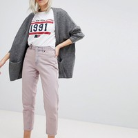 Pull&Bear Cropped Mom Jeans at asos.com