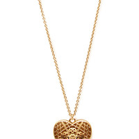 FOREVER 21 Filigree Heart Pendant Necklace Gold One