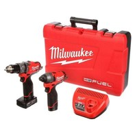 Milwaukee M12 FUEL 12-Volt Lithium-Ion 1/2 in. Hammer Drill/Driver and Impact Combo Kit-2597-22 - The Home Depot