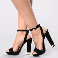 Shoe Golds Heel - Black