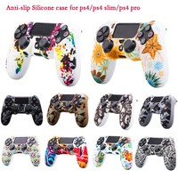 10 Colors Camo Anti-Slip Silicone Protective Skin Case For PlayStation 4 PS4 Pro Slim Controller