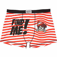 RED WHERE'S WALLY BOXER SHORTS