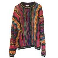 Rainbow COOGI XL Sweater 80s COSBY Multicolor Sweater
