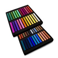 Kisspat hair Chalk 48 Mixed Fashion Colors Pack - HairColorChalks.Com