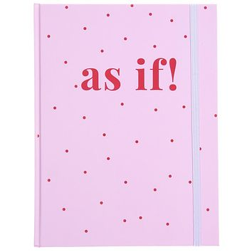Last Call! As If Spotted Hardbound Journal in Pink and Red