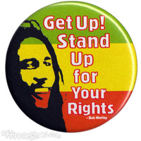 Bob Marley - Get Up Stand Up Button on Sale for $1.99 at HippieShop.com