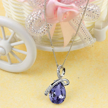 2017 Hot Women Lady Rhinestone Chain Crystal Necklace Pendant Jewerly Fashion Fashion Casual bijouterie collier choker collares