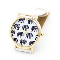Elephant strap watch (4 colors)
