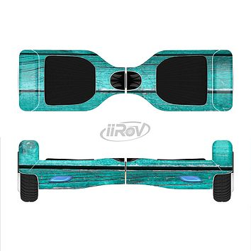 The Trendy Green Washed Wood Planks Full-Body Skin Set for the Smart Drifting SuperCharged iiRov HoverBoard