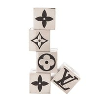 Louis Vuitton Palladium Logo Five-Piece Dice Die Cube Game