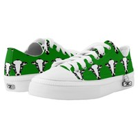 Cartoon Cow Face Pattern Printed Shoes