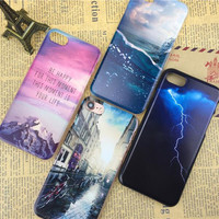Newest fashion For iPhone 5s 7 6 6S case Ultra Thin PC Hard Mountain Landscape For iphone 7 6 6S SE Case Phone Cover cases