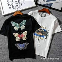Gucci dragonfly embroidery back printing T-shirt