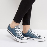 Converse Chuck Taylor All Star Metallic Canvas Trainers In Blue at asos.com