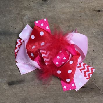 Valentine's Day Korker Hair Bow