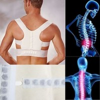 Therapy Back Shoulder Support Brace Belt Posture Corrector Power Magnetic Vest [7942131143]