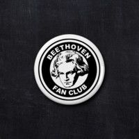 Beethoven fan club button
