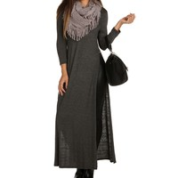 Promo-charcoal 3/4 Everyday Long Top
