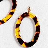 ONETOW ZHUU Oversized Oval Tortoise Shell Earring | Urban Outfitters