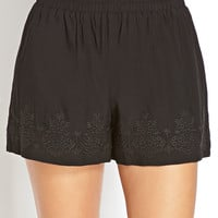 Standout Embroidered Woven Shorts