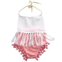 Newborn  Baby Girls Sleeveless Tassels