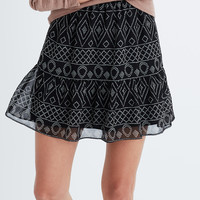 Caravan Print Mini Skirt : shopmadewell mini | Madewell