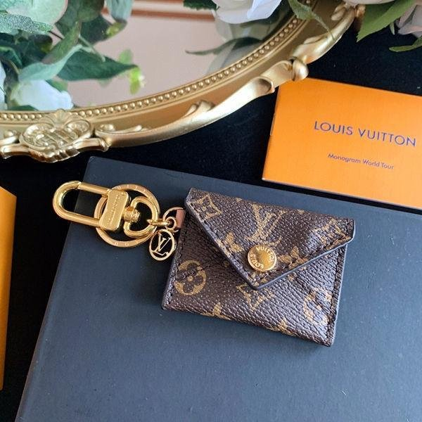 Image of Louis Vuitton LV Monogram KIRIGAMI POUCH BAG CHARM AND KEY HOLDER