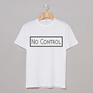 No Control / Girl Almighty One Direction white Tees