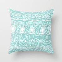 Beach Blanket Bingo Throw Pillow by Catherine Holcombe