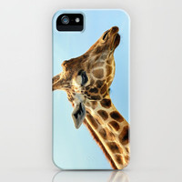 Jeffery the Giraffe iPhone Case by Wood-n-Images | Society6