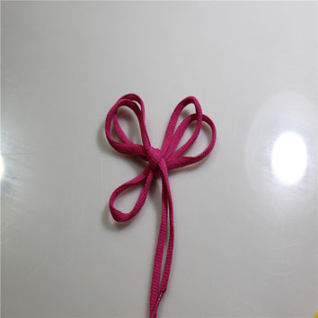 New Rose Red Oval Shoelaces