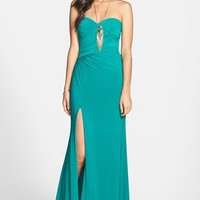 Hailey Logan Embellished Strapless Gown (Juniors) (Online Only) | Nordstrom